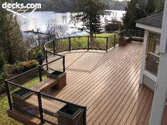 Like the circular bump out & minimal railings - Benches Seating Deck Picture Gallery