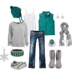 winter grey and teal