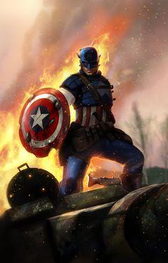 Captain America by Dan Luvisi