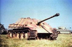 Color photo of a Jagdpanther after capture by US forces