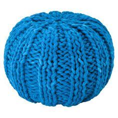 >$50.00 Threshold Turquoise Pouf