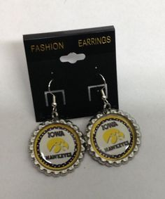 Iowa Hawkeyes Earrings #Handmade #DropDangle