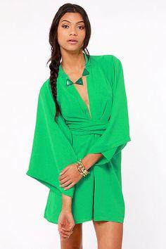 Blaque Label Rising Sun Green Dress - LuLu's