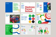 Visual identity and brand book designed by Spy for Hackney Forest School Education branding Hackney Forest School by Spy Education design 590816044852355891 Identity Design, Visual Identity, Brochure Design, Identity Branding, Sistema Visual, Brand Guidelines Design, Brand Manual, Portfolio Book, Portfolio Layout