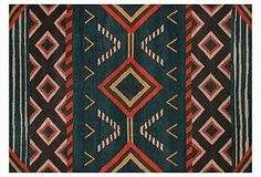 awesome rug. love this pattern, the colors.