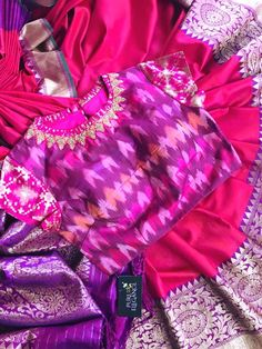 Blouse design and color Kids Blouse Designs, Saree Blouse Neck Designs, Blouse Patterns, Stylish Blouse Design, Indian Designer Wear, Clothes For Women, Lehenga Blouse, Sari, Banaras Sarees
