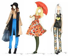 Copic Marker Fashion Illustrations by Tiffany (@tifforelie) of offbeat + inspired