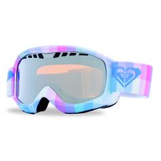 Roxy Broadway Art Series Snowboard Goggles - Plaid / Orange Chrome