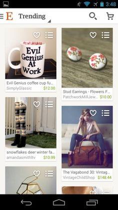 Etsy Screenshots