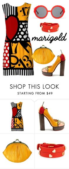 """""""Marygold"""" by xaia ❤ liked on Polyvore featuring Moschino, Charlotte Olympia, BeckSöndergaard, Tory Burch, Preen and marygold"""