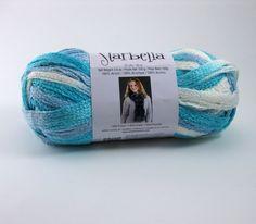 Starbella Ruffle Scarf Yarn by Premier: Seabreeze by PurpleOkapiStudio, $6.75