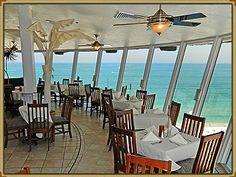 Spinners Restaurant Sunset Dinner.  St Pete beach, Florida.  Grand Plaza resort.  www.grandplazaflorida.com
