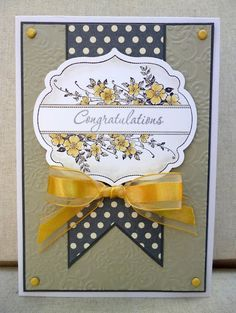 Stampin Up card...like the label image and the brown & yellow color scheme...