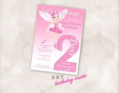 5X7 2cnd Birthday party invite Invitation printable by Mazoria