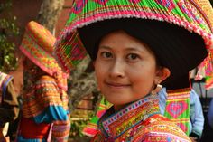 A local woman in traditional dress