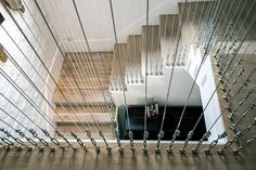amazing industrial effect balustrading to the staircase
