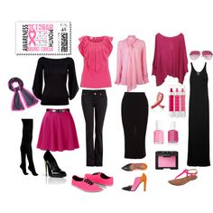 """Pink October"" by yasmine-el-mehairy on Polyvore"