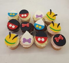 Mickey Mouse Clubhouse Cupcakes! Mickey Mouse Clubhouse, Fun Cupcakes, Delicious Food, Desserts, Cool Cupcakes, Yummy Food, Deserts, Dessert, Postres