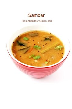 sambar recipe - sambar is a delicious thick vegetable lentil soup from South Indian cuisine. This recipe gives you the best sambar you can make at home with what ever veggies you have in hand. Sambhar Recipe, Dosa Recipe, Biryani Recipe, Masala Recipe, Manchurian Recipe, Tikka Recipe, Paneer Recipes, Curry Recipes, Indian Food Recipes