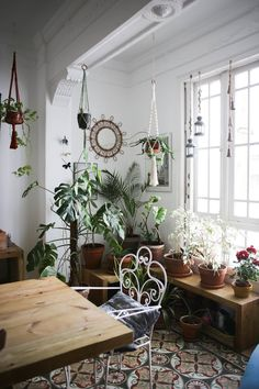 Beautiful Spanish living room with lots of plants