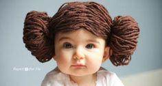 Adorable yarn wig!