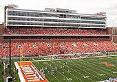 Picture of the upper level and press box. Illinois Football, Stadium Tour, Oh The Places You'll Go, Baseball Field, Tours, Memories, Sports, Pictures, Box