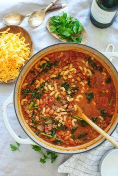 Smokey Chili Mac Soup / Bev Cooks