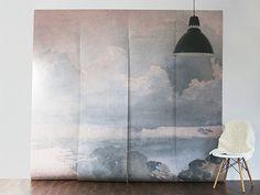cloudedwallmural by Anewall