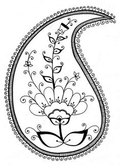 RANGOLI: paisley pattern Rangoli colouring page, FREE download