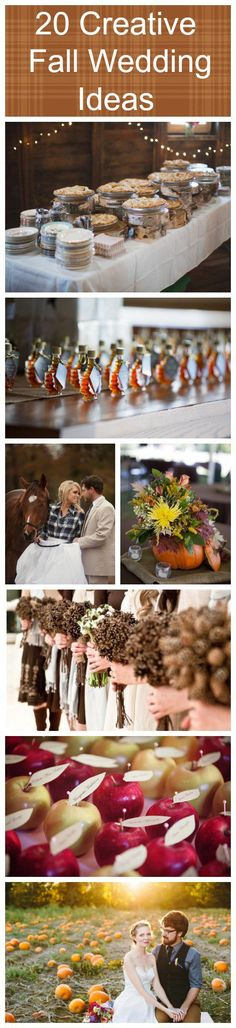 Creative Fall Wedding Ideas like the idea of serving pie
