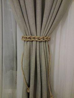 Curtain Tie Back 2 pcs Nursery Curtain Gypsy Décor Boho Accessories Rope Curtain Tie Back Curtain Hooks Curtain Holdback Curtain TieBacks Curtain Tie Backs Diy, Rope Curtain Tie Back, Curtain Ties, Diy Curtain Holdbacks, Nautical Curtains, Nursery Curtains, Burlap Curtains, Gypsy Decor, Boho Decor