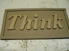 make signs out of cardboard and paint...with some tweaking this could be really cute and cheap!