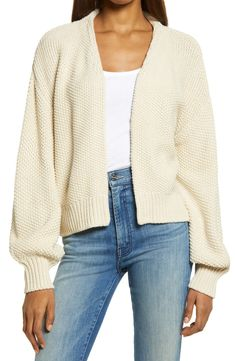 Treasure & Bond Textured Open Front Cardigan   Nordstrom Open Front Cardigan, Retail Therapy, Knitwear, Nordstrom, Beige, Pullover, Texture, Clothes For Women, Sweaters