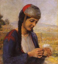 Κοπελα Με Μαργαριτα, Γεώργιος Ιακωβίδης | Πίνακες ζωγραφικής, καμβάς, λαδοτυπία, αφίσα, κορνίζα