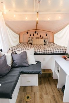 Lovely Camper Remodel And Renovation Ideas Adorable 39 Lovely Camper Remodel And Renovation Ideas.Adorable 39 Lovely Camper Remodel And Renovation Ideas. Popup Camper Remodel, Diy Camper, Camper Ideas, Camper Life, Rv Life, Camper Van, Caravan Renovation, Home Renovation, Pop Up Tent Trailer