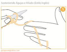 Hay varias maneras de sostener las agujas y el hilado y no existe el método correcto ya que será aquel que te resulte más cómodo. El hilo pu...
