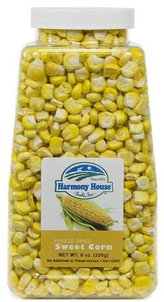Harmony House Foods Freeze-Dried Whole Corn (8 oz, Quart Size Jar) *** This is an Amazon Affiliate link. You can find out more details at the link of the image.