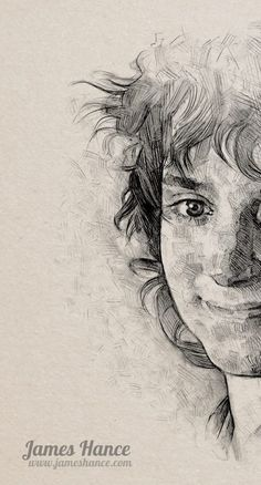 Beautiful drawing of Frodo. Kudos to the fabulous artist.