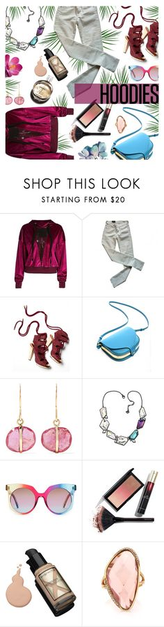 """""""hoodies."""" by ezgi-g ❤ liked on Polyvore featuring Citizens of Humanity, Derek Lam, Melissa Joy Manning, Swarovski, MCM, Kevyn Aucoin, Max Factor, Hermès, Mark Broumand and Hoodies"""