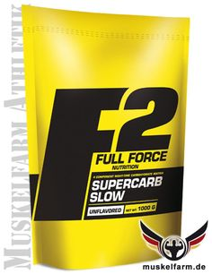 F2 Full Force Supercarb Slow mit einer vierfach Kohlenhydratmischung, komplexe Kohlenhydrate für einen längeren Zeitraum, niedriger glykämischer Index.