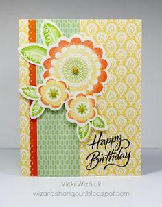 card by Vicki Wizniuk using CTMH Chantilly paper.... (change sentiment)