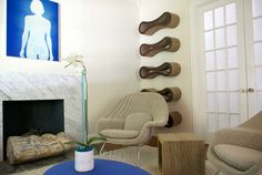 Great idea for the PetFusion Cat Scratcher Lounge hang on the wall!