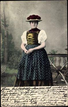 Ansichtskarte / Postkarte Volkstracht aus dem Gutachtal, Trachten Schwarzwald