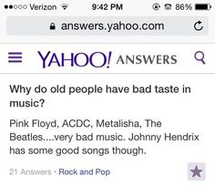 funny yahoo answers old people music