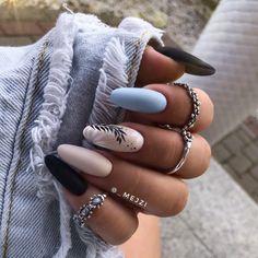 Прекрасный осенний маникюр 2020   Новости моды Shellac Nail Designs, Shellac Nail Art, Summer Acrylic Nails, Best Acrylic Nails, Matte Nails, Gel Nails, Nails Today, Nagellack Design, Indigo Nails