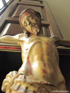 Arte: ESCUELA GRANADINA DEL SIGLO XVIII. CRISTO TALLADO EN MADERA Y POLICROMADO EN CRUZ DE TARACEA - Foto 4 - 244676835 Christ, 18th Century, School, Art