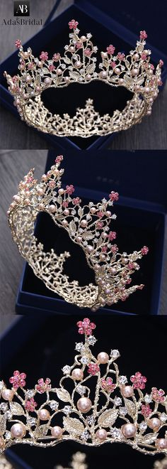 Junoesque Alloy Wedding Tiara With Imitation Pearls
