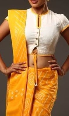 Saree Blouse Neck Designs, Kurta Neck Design, Kurti With Jeans, Stylish Blouse Design, Fashion Blouses, Saree Trends, Designer Blouse Patterns, Indian Designer Wear, Blouse Styles