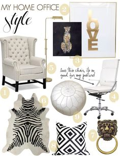 The Decorista-Domestic Bliss: office space of the day...my home office