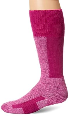 Thorlo Women's Comfort Ski Sock, Twilight Rose, #Medium Made by #Thorlo Color #Twilight Rose. Sock fibers provide maximum insulation with superior #softness and moisture wicking durability. Unique padding in ball and heel to reduce pain by eliminating blisters and pressure points. Cushioned shin and instep reduce pressure on feet. Vent panels for extra moisture control. Low profile toe seam won't rub or irritate feet